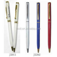 Metal ball pen with logo print as promotional gifts