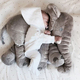 Large 60cm Cute Elephant Plush Toys Lovely Dolls Soft Pillows Baby Sleeping Pillow doll Kid's birthday gifts