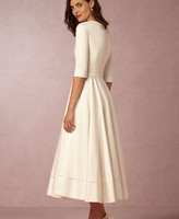 Europe and the United States high-end autumn and winter new sexy deep V sleeve dress long dress