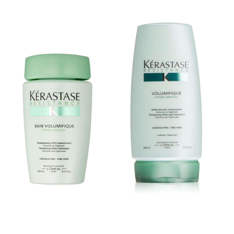 Bundle - 2 items: Kerastase Resistance Bain Volumifique Shampoo 8.5 Oz & Volumifique Thickening Effect Gel Treatment, 6.8 Oz