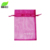 Factory Wholesales Big Small Mini Size Drawstring Recyclable Wedding Organza Gift Bag With Own Logo