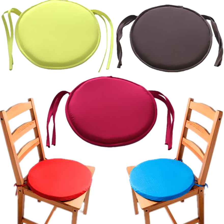 New Round Chair Cushion Pop Patio Office Seat Pad Tie On Square Garden Kitchen Dining Pillow Thick Sponge Tatami