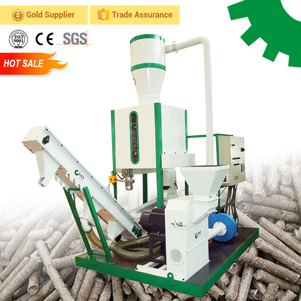 Mini mobile portable small pellet mill production line biomass sawdust sunflower rice husk bagasse flat die wood pellet machine