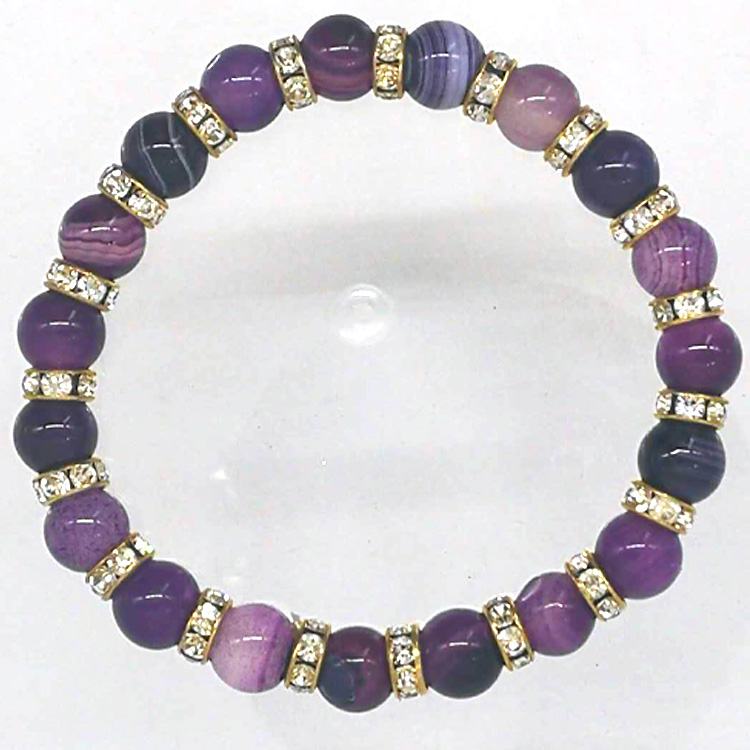Free Shipping 6 8 10mm Natural Stone Beads Bracelet Round Bosi Stone Purple Color For Jewelry Making Beads & Jewelry Making