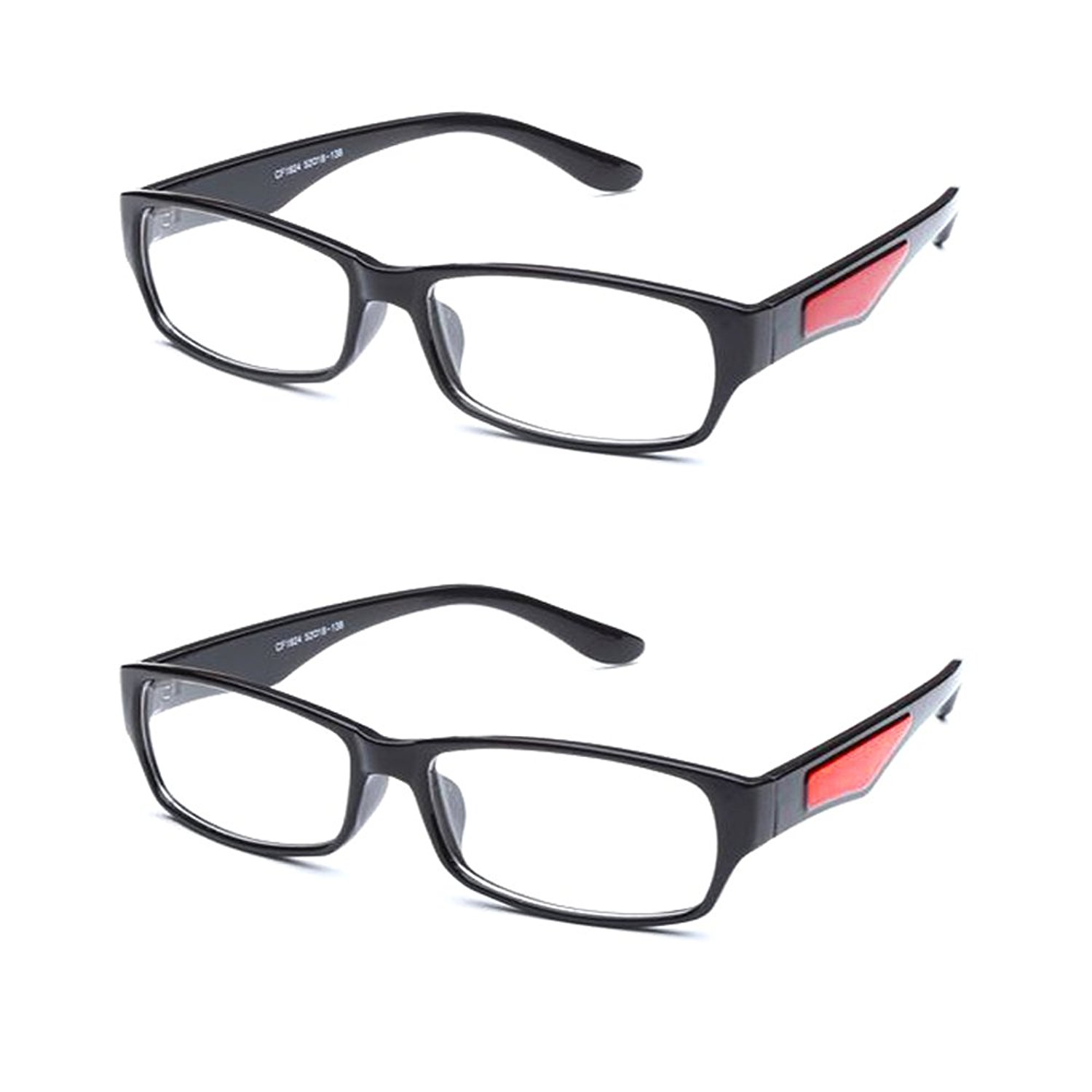 Newbee Fashion - Casual Simple Squared Durable Frames Temple Design Clear Eye Glasses