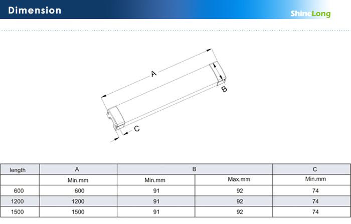 Pc Outdoor Waterproof Fluorescent Light Fixture Parts Ce