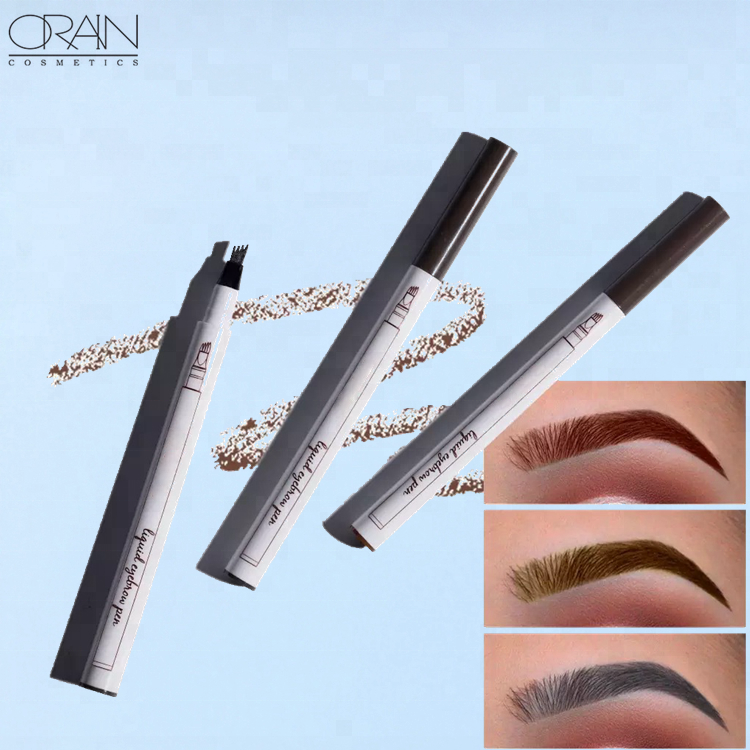 Eyebrow Enhancers Beauty & Health Imported From Abroad 1 Box Fresh Blue 23 Color Eyebrow Pen Waterproof Fork Tip Eyebrow Tattoo Pencil Long Lasting Fine Sketch Liquid Eye Brow Pencil Selected Material