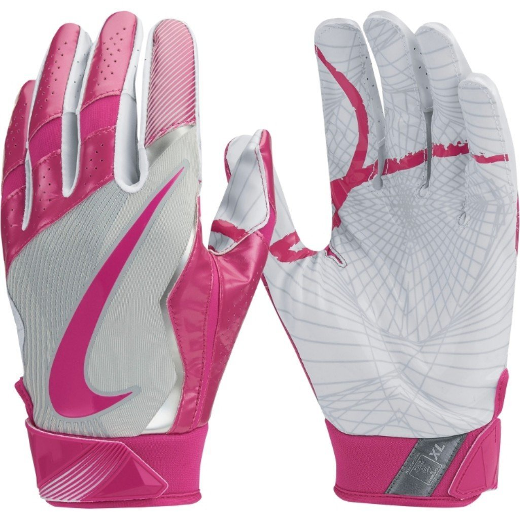 Breast cancer wide receiver gloves
