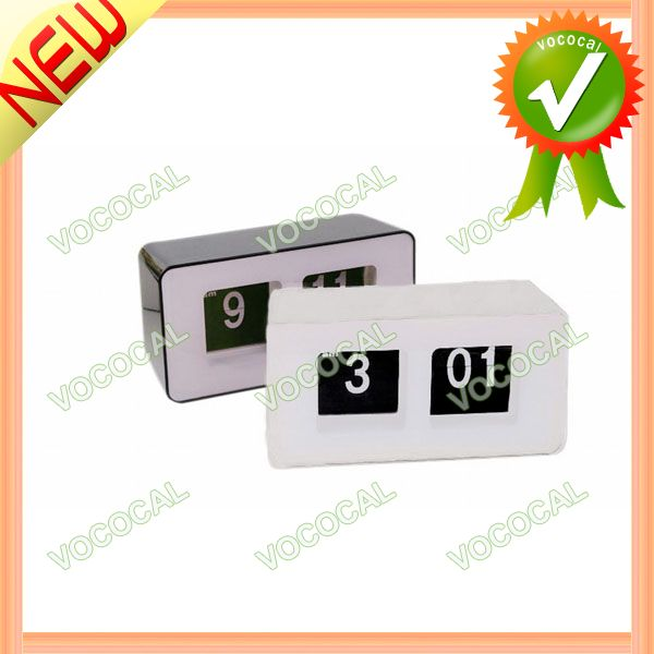 Simple Retro Auto Flip Number Digital Desk Clock