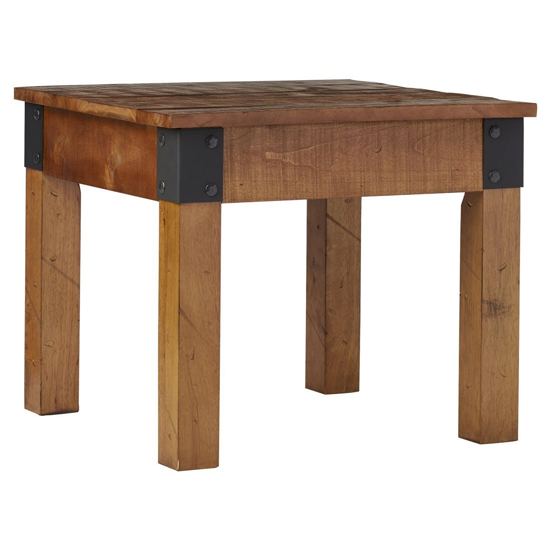 Get Quotations · Bors End Table   Comes In A Rustic Style And Sturdy  Structure   Brown Finish With