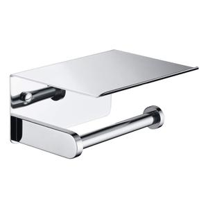 Polished Chrome Toilet Paper Holder Shelf 304 Stainless Steel Bathroom Accessories Tissue Roll Holder