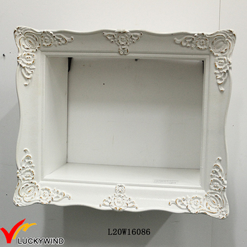 wall display handcrafted frame french vintage white shadow box frame wholesale - White Shadow Box Frame