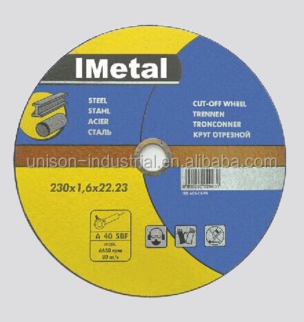 Top quality MPA EN Standard 80 m/s*1.88 Speed Best Price abrasive Stainless Steel cutting disc