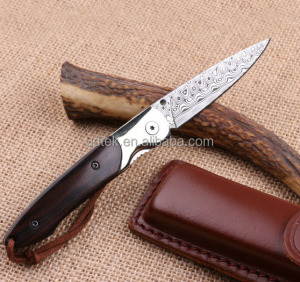 OEM Small Hunting Survival Knives with damascus blade material