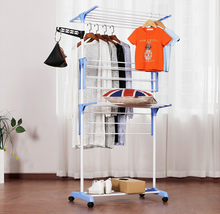 Multifunctional laundry garment rack clothes drying rack hanging cloth rack with removable wheels