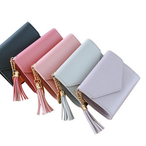 Wholesale Short Size Woman Wallet Cute Girls Coin Purse Small Card Bag Wallet