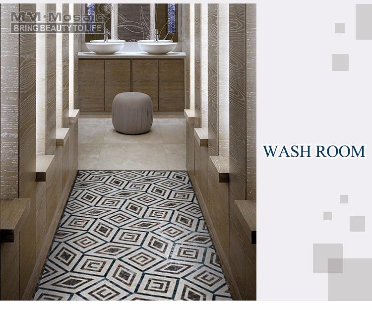 Beliebte Innen Schiefer Mosaik Bad Eingang Parkett Fliesen Design Steinböden