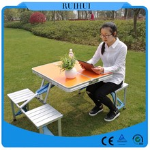 The fine portable folding chair attached table, folding table and chair in bulk