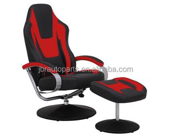 Style de siège de voiture de course noir et rouge vinyle bureau À