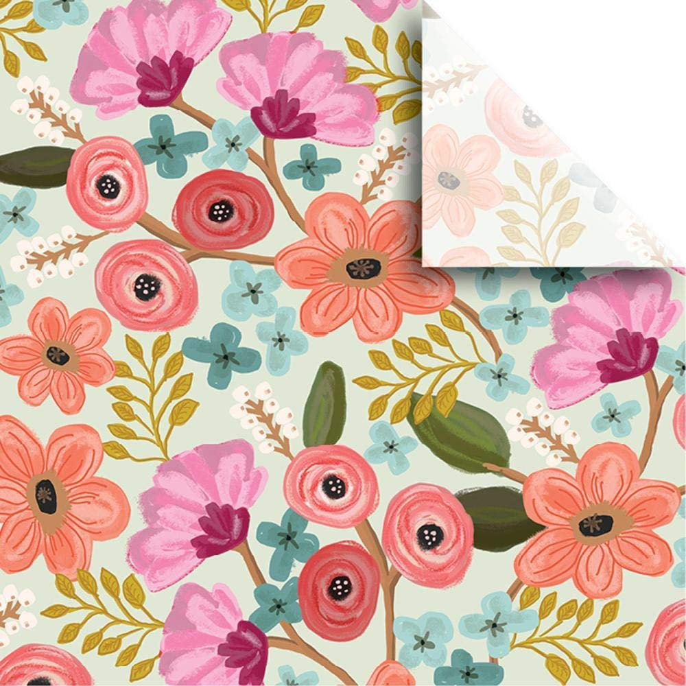 19 x 19 E by design N4FN556BL20OR13 Gypsy Floral Blue 19 x 19 Floral Print Napkin