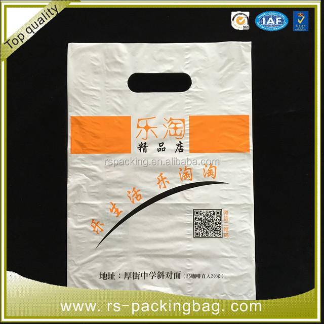 customized ldpe die cut plastic shopping bag - Custom Plastic Bags