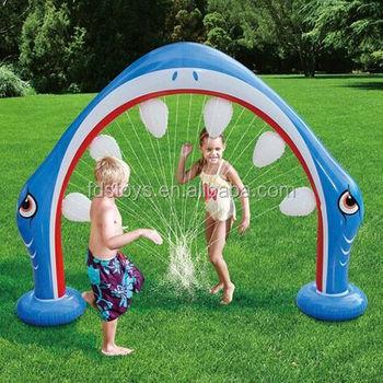 Aufblasbare Hai Mund Sprinkler Kinder Garten Spielzeug Buy