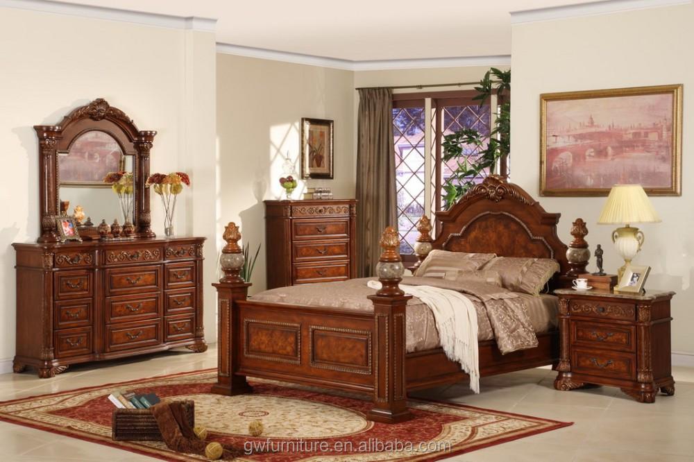 Wa174 Importación India Camas Muebles De Dormitorio De Madera Maciza ...