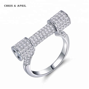 Hot selling alloy special designed rings for girls