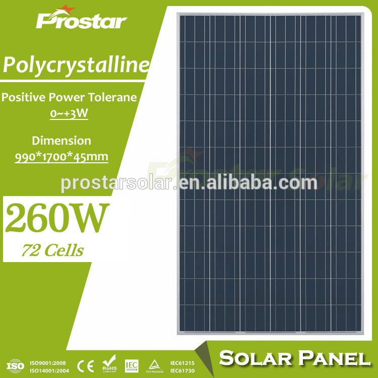 Top quality polycristalline solar panel 230w 250w 255w 260w commercial using