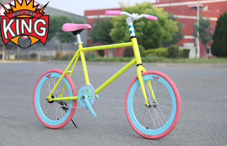 hot sale 20inch fixed gear bicycle student mini bike white frame fixie
