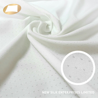 White polyester spandex material knitted mesh fabric for underwear