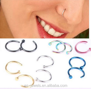 316L medical titanium steel anti-allergic small Indian nose ring