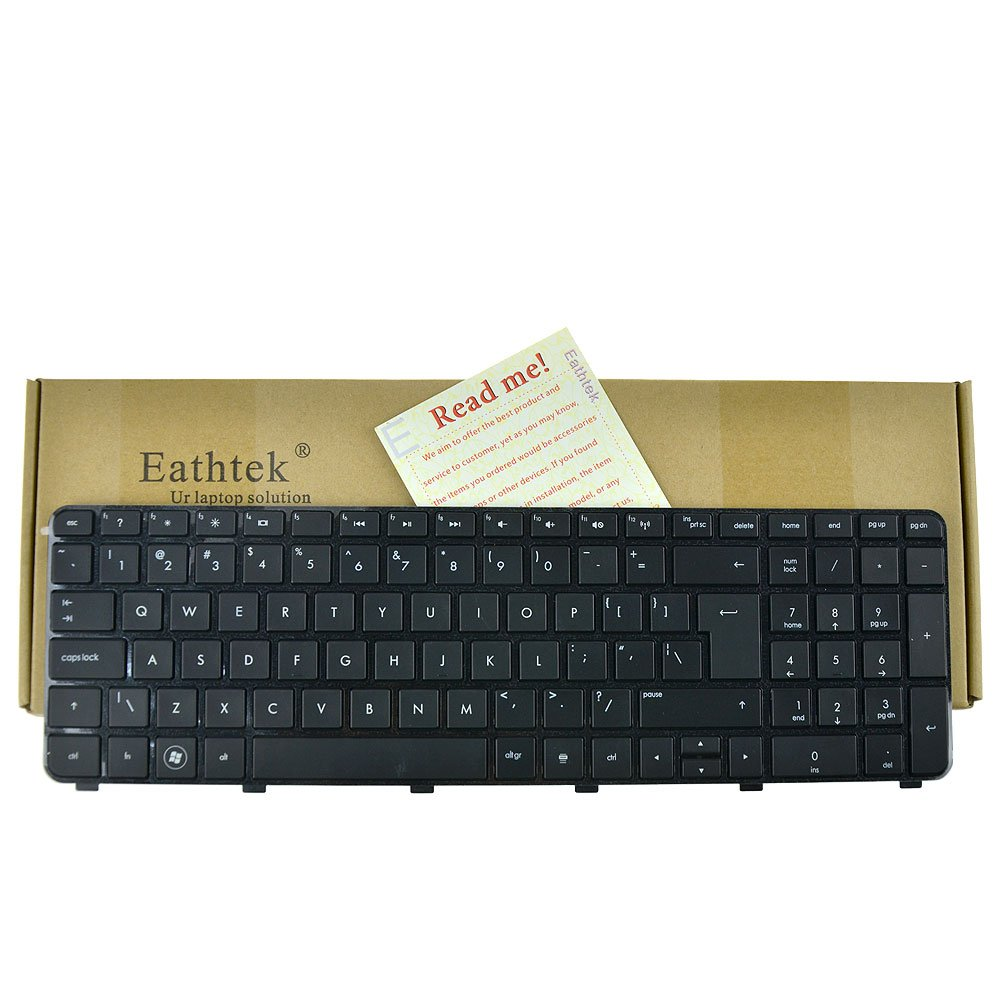Eathtek Replacement Keyboard for HP Pavilion dv7-6000 dv7t-6000 CTO dv7-6100 dv7t-6100 CTO 639396-001 666001-001 634016-001 664264-001 664264-B31 NSK-HJ0US 90.4RN07.S1D Series Black US Layout