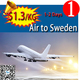 china cheapest air freight to Sweden shipping rates very cheap by air from china skype:candyasb