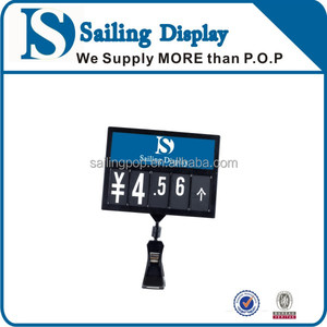 Retail plastic price label holder Label price ticket