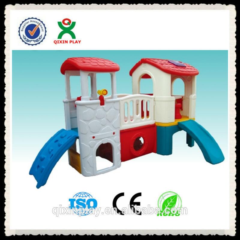 Mini de pl stico casa de juegos para ni os con silde for Casas de plastico para ninos