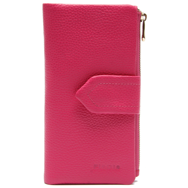 Popular style fashion cell phone purse ladies cow leather wallet
