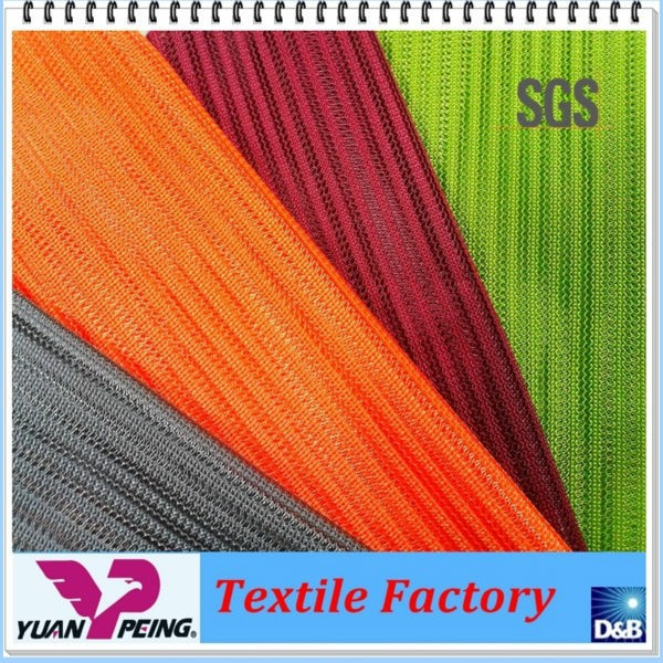100% polyester yarn space dyed knit fabric
