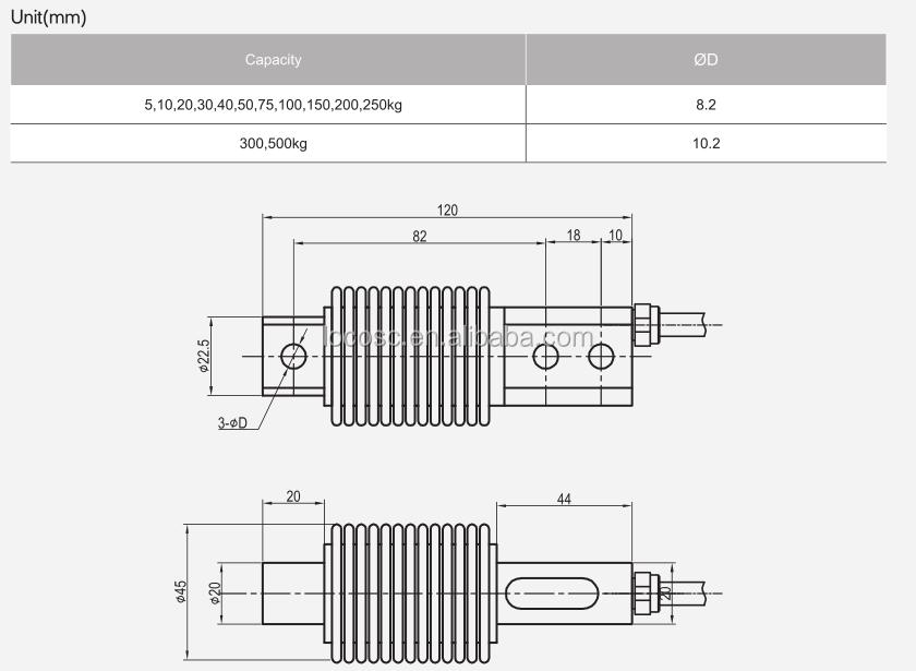 Ip68 Belt Bending Beam Load Cell Hbm,Weight Sensor For Conveyor Belt,Weight Sensor
