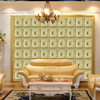 Home Decoration Plant Fiber 3d Wave Wallpaper, Faux Leather Wall Panels,interior  Wall Decorative