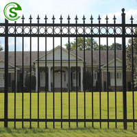 Iron tubular fence and gate Metal grill fence gate design
