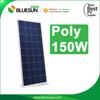 Polycrystalline silicon material and 1480*673*35mm size 12v 150w poly solar panel
