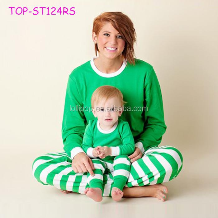 800e2a33ab5 Cotton Pajamas Outfit Western Girls top binding stripe pants set cute Baby  Boy unisex christmas
