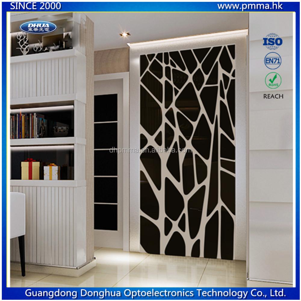 Papier Peint Effet Miroir personnalisé 3d acrylique miroir autocollant de papier peint pour décoration