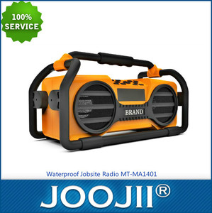 2015 Newest China Wholesale Waterproof DAB Jobsite Radio with FM RDS, Bluetooth and Alarm Clock Function