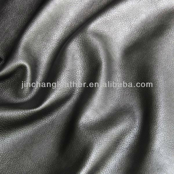 Metallic litchi grain synthetic leather for shoes and boots