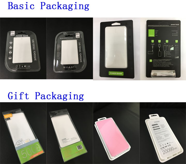 Best selling portable external 5000mah power bank, super slim mobile 5000mah power bank from Shenzhen