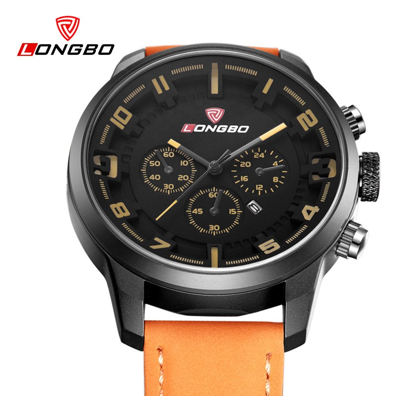 LongBo watch champion military watches men wrist japan movt watch
