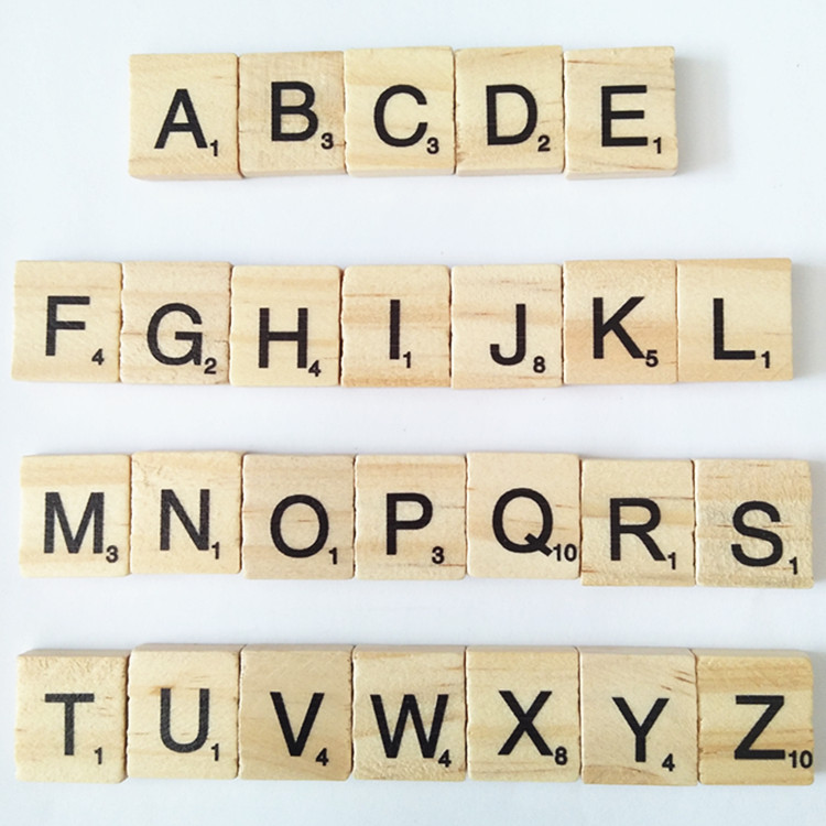 Natural wooden Alphabet Letters For Children Education