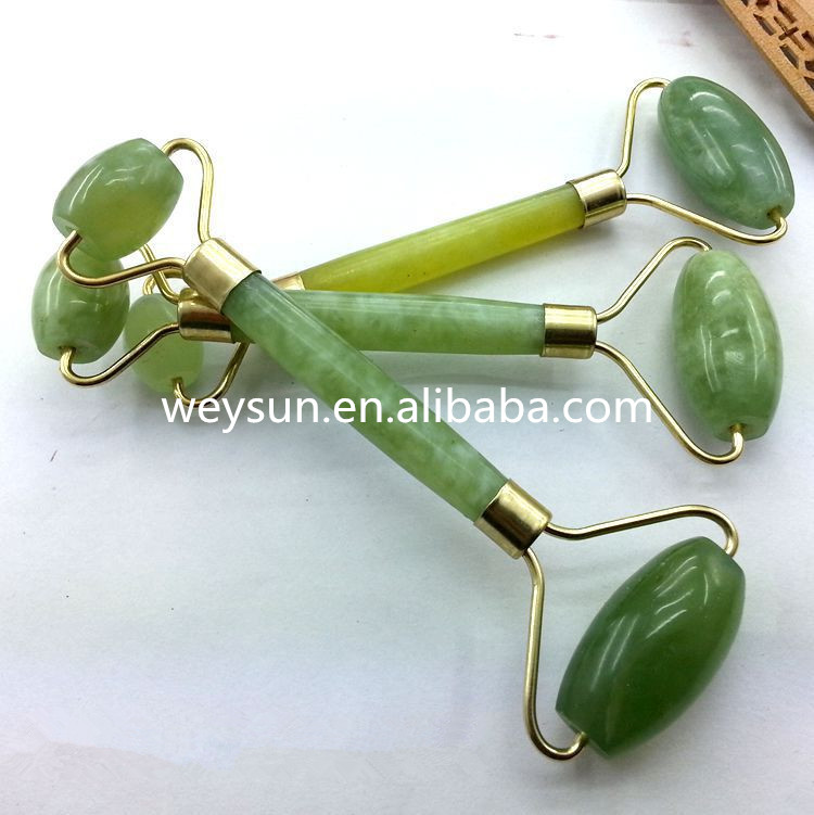 Royal Jade Double Roller Facial Slimming Massager Neck Relaxion Beauty Tool Massage Facial Thin Massage gem